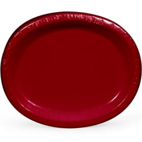 Artstyle Red Oval Paper Plates (55 ct.)