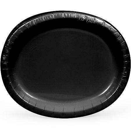 "Artstyle Black Oval Paper Plates, 10"" x 12"" (55 ct.)"