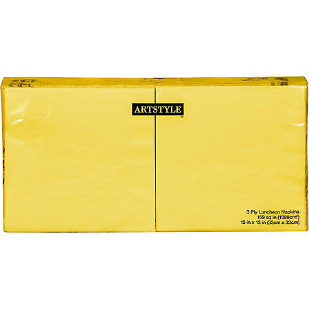 Artstyle Yellow Napkins Twin Stack (200 ct.)