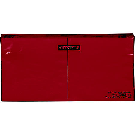 Artstyle Red Napkins Twin Stack (200 ct.)