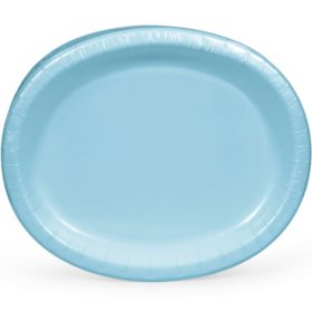 "Artstyle Pastel Blue Oval Paper Plates, 10"" x 12"" (55 ct.)"
