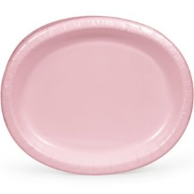 "Artstyle Classic Pink Oval Paper Plates 10"" x 12"" (55 ct.)"