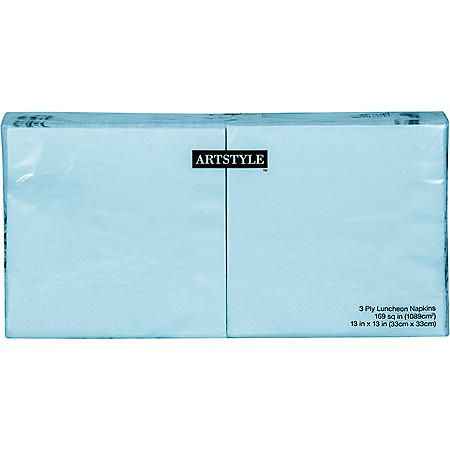"""Artstyle Pastel Blue Napkins Twin Stack 6.5"""" (200 ct.)"""