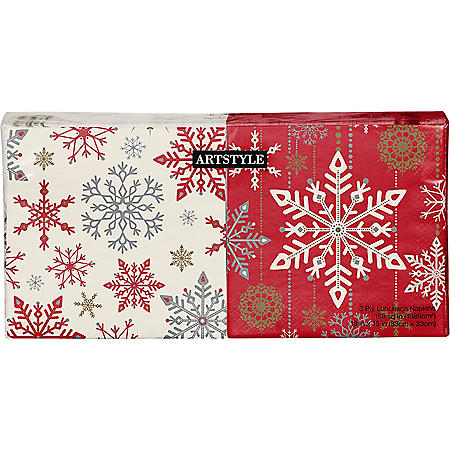 Artstyle Holiday Snowflakes Napkins Twin Stack - 200 ct.