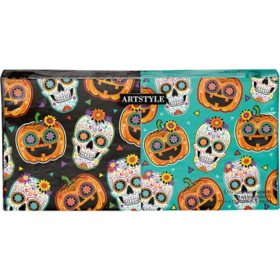 "Artstyle Sugar Skull and Pumpkin Fiesta Napkins Twin Stack 6.5"" - 200 ct."