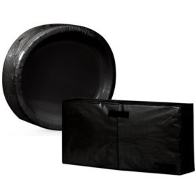Artstyle Oval Plate and Napkin Kit, Various Colors (255 ct.)