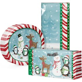 Artstyle Snowman and Holiday Friends Tableware Kit (259 ct.)