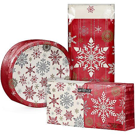 Artstyle Holiday Snowflakes Tableware Kit (259 ct.)