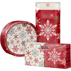 Artstyle Holiday Snowflakes Tableware Kit (259 ct.)