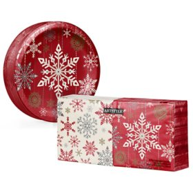 Artstyle Holiday Snowflakes Paper Plate and Napkin Kit (290 ct.)