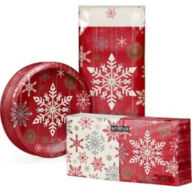 Artstyle Holiday Snowflakes Party Supplies Kit (294 ct.)