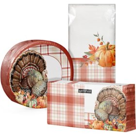 Artstyle Always Thankful Thanksgiving Tableware Kit (259 ct.)