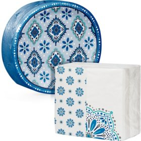 Artstyle Mandala Magnificence Oval Paper Plate and Dinner Napkin Kit (205 ct.)