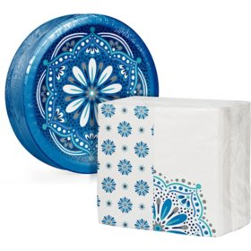 Artstyle Mandala Magnificence Paper Plate and Dinner Napkin Kit (240 ct.)