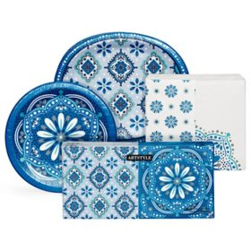 Artstyle Mandala Magnificence Tableware Kit (495 ct.)