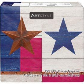 "Artstyle Patriotic Flag of Texas Dinner Napkins, 4"" x 8"" (150 ct.)"