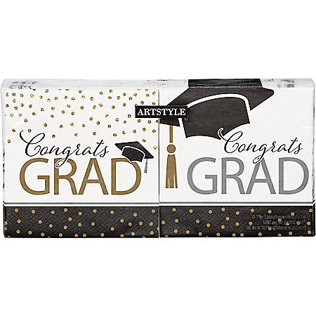 "Artstyle Classy Graduation Lunch Napkins, 6.5"" (200 ct.)"