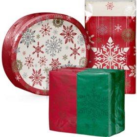 Artstyle Holiday Snowflakes Tableware Kit (209 ct.)