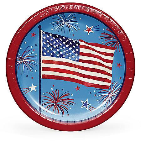 """Member's Mark Patriotic Fun Paper Plates, 10"""" (90 ct.)"""