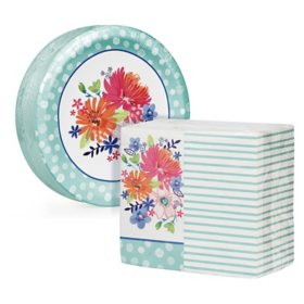 Artstyle Spring Bliss Paper Plates and Dinner Napkins Kit (240 ct.)