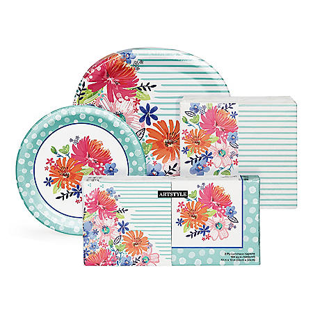 Artstyle Spring Bliss Deluxe Tableware Kit (495 ct.)