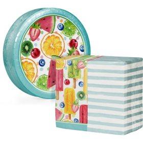 Artstyle Summer Fun Treats Paper Plates and Dinner Napkins Kit (240 ct.)