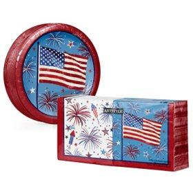 Artstyle Patriotic Fun Paper Plates and Napkins Kit (290 ct.)