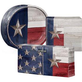 Artstyle Patriotic Flag of Texas Tableware Kit (405 ct.)