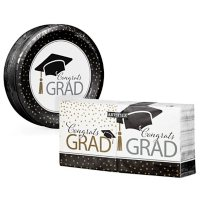Artstyle Classy Graduation Paper Plates and Napkins Kit (290 ct.)
