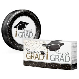Artstyle Classy Graduation Paper Plates and Napkins Kit (290 ct.)