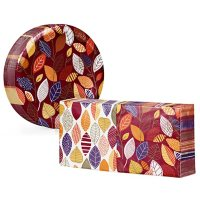 Artstyle Little Leaves Paper Plates and Napkins Kit (290 ct.)