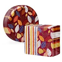 Artstyle Little Leaves Paper Plates and Dinner Napkins Kit (240 ct.)