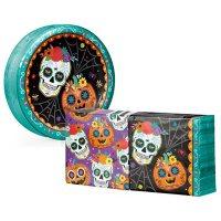 Artstyle Sugar Skull Pumpkins Paper Plates and Napkins Kit (290 ct.)