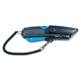 Cosco - Box Cutter Knife w/Shielded Blade -  Black/Blue