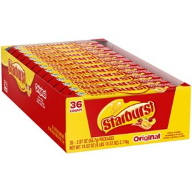 Starburst Original Chewy Candy Full Size Bulk Pack (2.07 oz., 36 ct.)