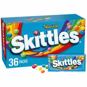 Skittles Tropical Full Size Bulk Fundraiser Candy (2.17 oz., 36 ct.)