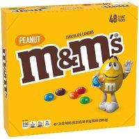 M&M'S Peanut Milk Chocolate Full Size Bulk Fundraiser Candy (1.74 oz., 48 ct.)