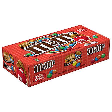 M&M's Peanut Butter (1.63 oz., 24 pk.)