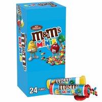 M&M'S Milk Chocolate MINIS Tubes Bulk Fundraiser Candy (1.08 oz., 24 ct.)