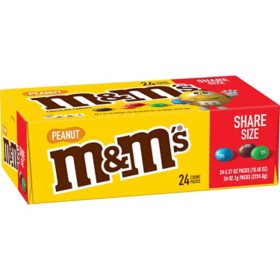 M&M'S Peanut Chocolate King Size Candy (3.27 oz., 24 ct.)