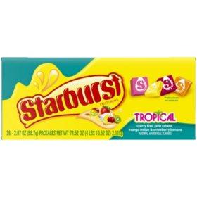 Starburst Tropical Fruit Chews (2.07 oz., 36 ct.)