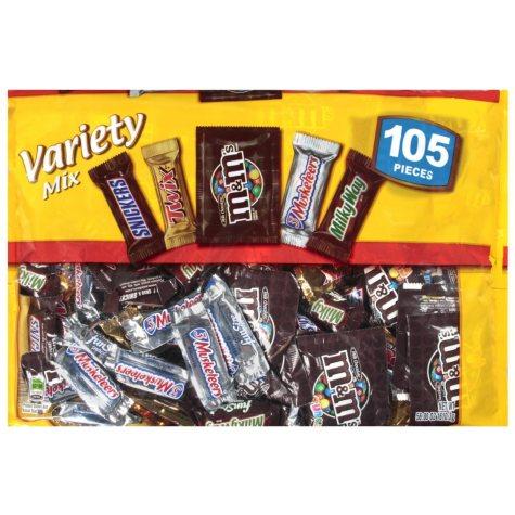Mars Chocolate Variety Mix - 105 ct.