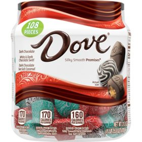 Dove Assorted Dark Chocolate Promises Resealable Tub (31 oz.)