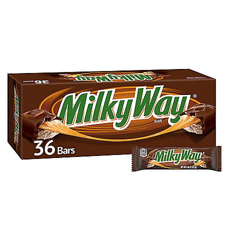 Milky Way Caramel Chocolate Full Size Candy Bars, Bulk Fundraiser (1.84 oz., 36 ct.)