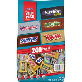 Mars Minis Chocolate Favorites, Valentine Candy, Stand-Up Pouch (240 ct., 74 oz.)