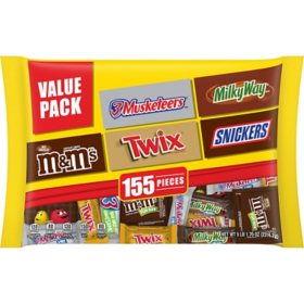 M&M'S, Twix and More Chocolate Candy Variety Pack (155 pc., 81.7 oz.)