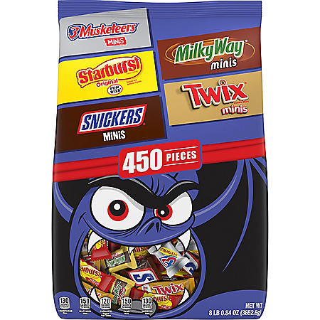 Mars Candy Minis Size Halloween Bulk Variety Pack (450 ct.)