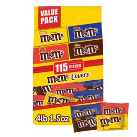 M&M'S Fun Size Milk Chocolate Candy Bulk Variety Mix (65.5 oz., 115 pc.)