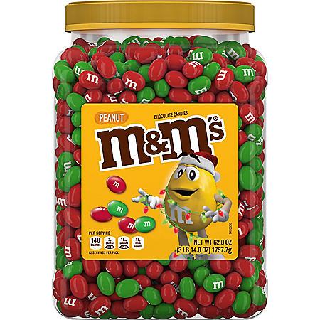 M&M's Peanut Chocolate Christmas Candy (62 oz.)