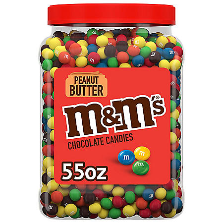 M&M'S Peanut Butter Milk Chocolate Bulk Candy Jar (55 oz.)